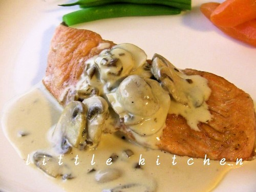 Pan Fried Salmon with Japanese Style Cream Sauce