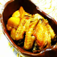 Sweetly Simmered Potatoes and Chicken Wings