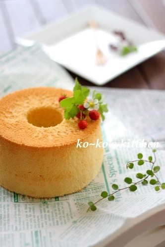 Vanilla Mini Chiffon Cake