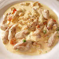 Cheese and Nuts Cream Sauce Pasta
