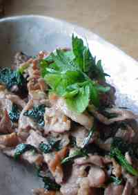 Pork and Shiso Leaves Stir-Fried with Butter and Soy Sauce