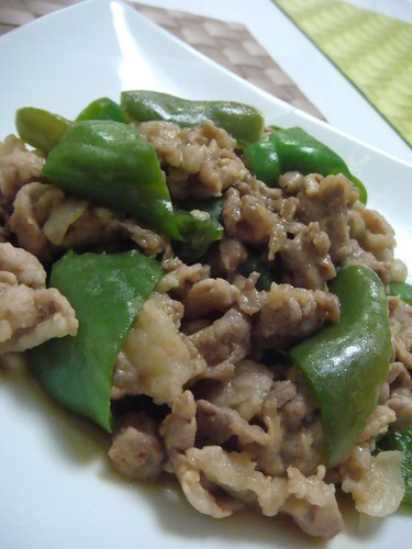 Miso and Garlic Flavoured Pork and Green Pepper Stir-Fry