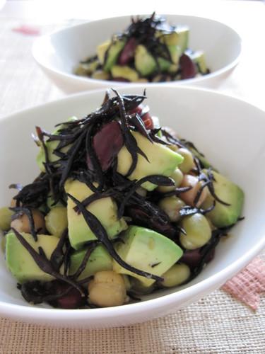 Avocado and Hijiki Seaweed Yuzu Pepper Paste Salad