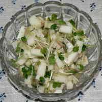 Nagaimo Yam & Radish Sprouts with Myoga Ginger + Yuzu Pepper