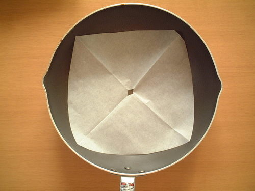 Easy Otoshibuta Drop Lid with Parchment Paper
