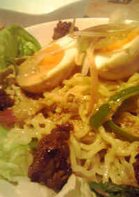 Ramen Salad with Sesame Dressing at Home