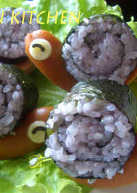 Sushi Roll Snails for Charaben