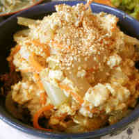 Egg Scramble with Onion & Silken Tofu
