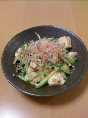 Tofu and Cucumber Salad with Umeboshi-Sesame Dressing