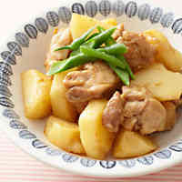 Simmered Chicken & Potatoes in Vinegar and Sesame Sauce