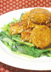 Bean Sprouts Meatballs in Chinese An Sauce