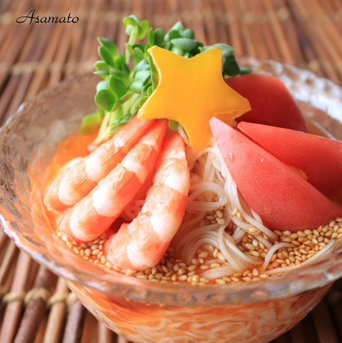 Qixi Star Festival: Spicy Hot Somen Noodles with Prawns