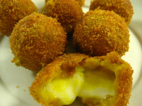 Kabocha Squash Croquettes with Mozzarella Cheese