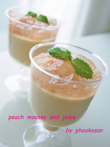 Peach Mousse and Jelly