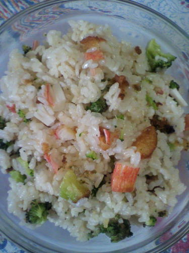 Imitation Crab Stick & Broccoli Ten-don Style Mixed Rice