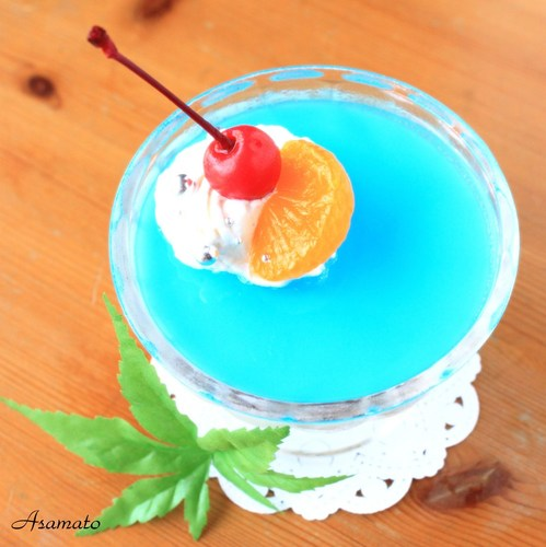 Cheery Milky Way Jello for Tanabata