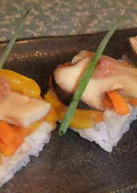 Sweet and Salty King Oyster Mushroom Sushi