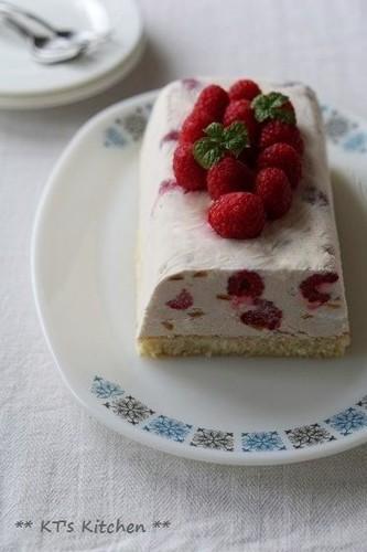 Citrus Ice Cream Cake with Berries and Yogurt