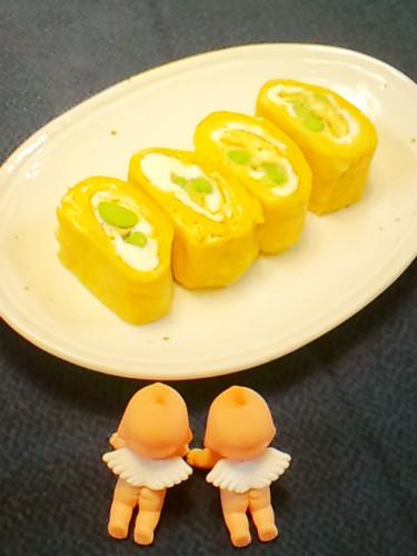 For Bento: Marbled Tamagoyaki with Edamame