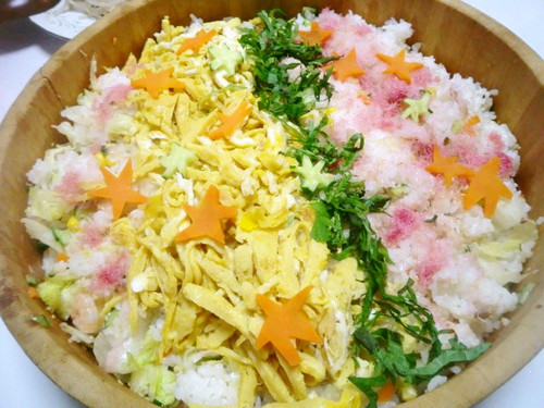 Tanabata The Milky Way Salad Chirashi Zushi