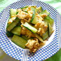 Chinese Cucumber and Egg Stir-Fry