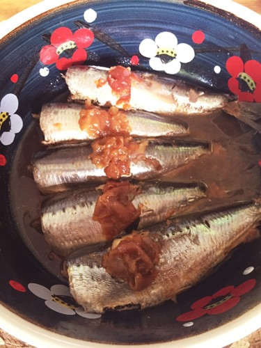 Simmered Sardines with Umeboshi