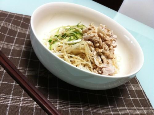 Cold Pork Shabu-Shabu Somen Noodles with Sesame Sauce