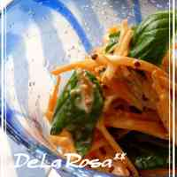 Carrot and Basil Salad with Honey Mustard Mayonnaise