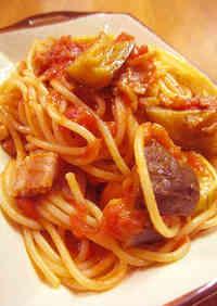 Basic Pasta: Tomato and Eggplant
