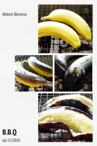 Summer Food!! BBQ Grilled Banana