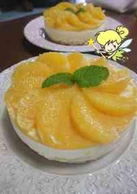 Refreshing Cheesecake with Fresh Orange Slices