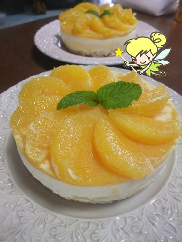 Refreshing Cheesecake with Fresh Orange Slices