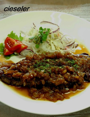 Beef Steak with Onion Sauce