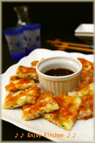 Nagaimo Yam and Bacon Cheesy Chijimi