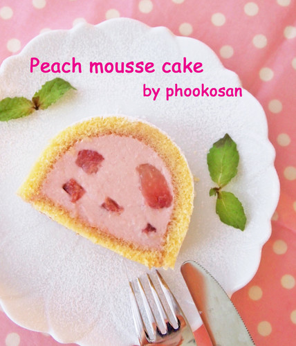 Light Mousse Cake with Peach