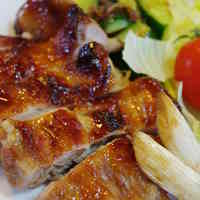 Grilled Teriyaki Chicken with Crispy Skin