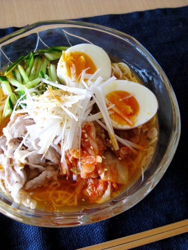 Naengmyeon Style Spicy Somen Noodles