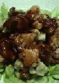 Chicken & Cauliflower in Barbecue Sauce with Lemon Flavoring