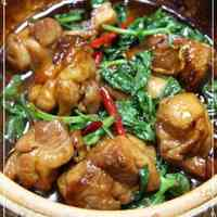 Taiwanese Sweet and Savoury Chicken Basil Hot Pot