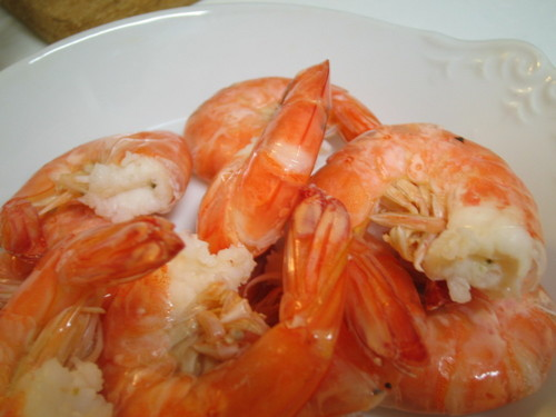 Boiled Shrimp in Salted Water