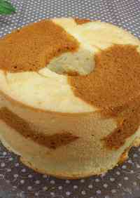 Marble Chiffon Cake (Salted Caramel)