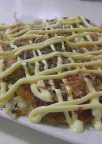 Okonomiyaki that's Crispy Outside and Fluffy Inside