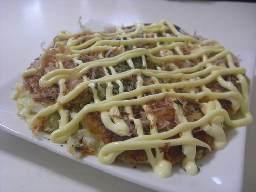 Okonomiyaki that's Crispy Outside and Fluffy Inside