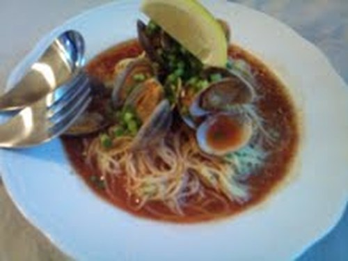 Chilled Vongole Soup with Cappellini