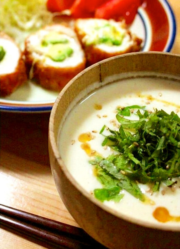 Potage-style Cold Tofu Miso Soup In Just A Minute!