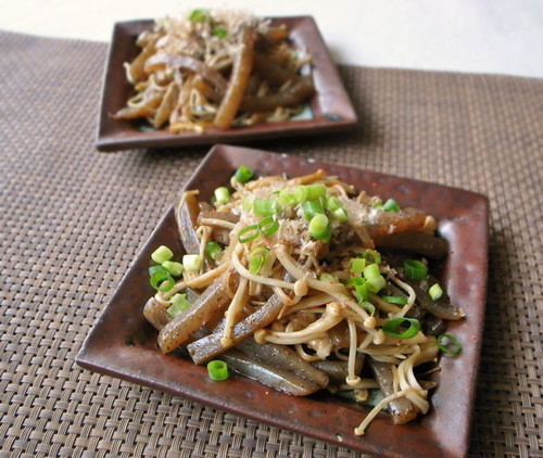 Spicy Konnyaku & Enoki Mushrooms