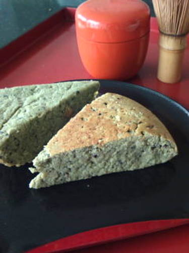 Matcha Okara Cake ☆ Made with Brown Sugar Syrup and Black Sesame