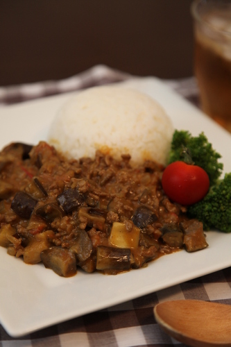 Ready in 15 Minutes! Eggplant Keema Curry
