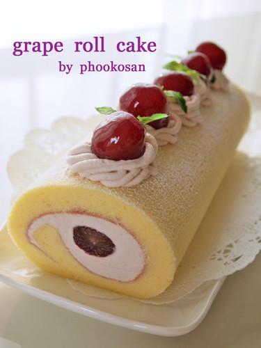 Kyohou Grape Swiss Roll