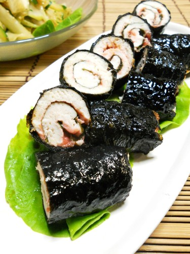 Chicken Tender Pickled Plum Shiso Toasted Nori Seaweed Rolls
